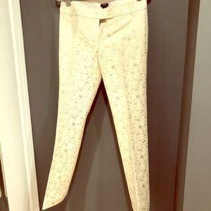 Beautiful J.Crew Ivory and Silver Pant